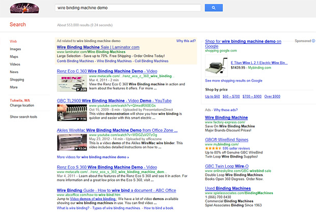 video serps